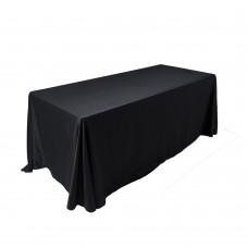 Скатерть овальная черная 3,2*2,3м