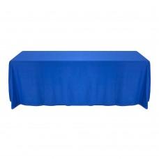Скатерть овальная синяя 3,2*2,3м