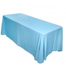 Скатерть овальная голубая 3,2*2,3м