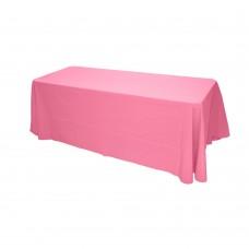 Скатерть овальная розовая 3,2*2,3м
