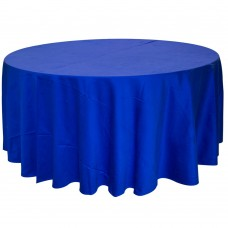 Скатерть круглая без шва синяя Ø2,9м