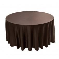 Скатерть круглая без шва шоколадная Ø 3м
